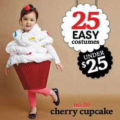 25 easy costumes under $25 - Cherry Cupcake - Today's Parent. http://www.todaysparent.com/family/activities/halloween-costumes-headbands/ #halloween #costumes