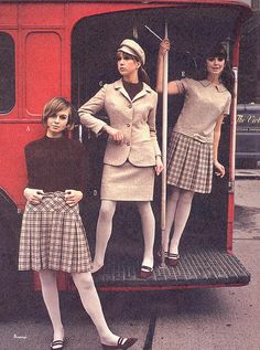 Pattie Boyd and two other models for Mary Quant