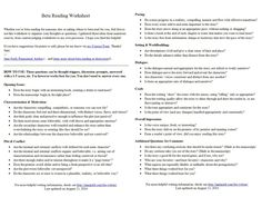 Screen shot of the two-page Beta Reading Worksheet