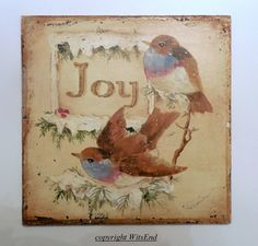 "'victorian joy'"" Winter Birds painting victorian style Christmas by 4WitsEnd, VIA Etsy"