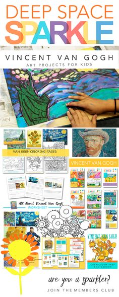 Paint like Van Gogh: Art projects for kids that feature art techniques in the style of Van Gogh. Learn to draw and paint sunflowers, starry night, impasto landscapes and more...