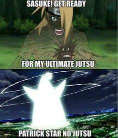 Patrick Star Jutsu!!