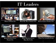 IT leaders (what people think I do)