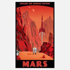 Vintage Travel Poster: Mars