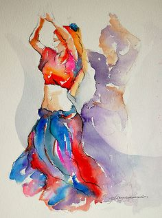 2 belly dancers