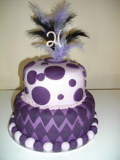 21st birthday cake ideas purple 21st Birthday Cake Ideas