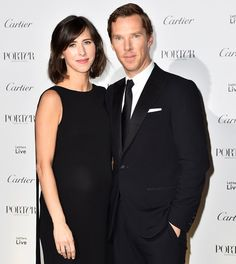 """Benedict Cumberbatch and Sophie Hunter at the ""Letters Live"" black tie gala event in celebration of their Incredible Women of 2016 at The Victoria & Albert Museum - November 2016 "" Sherlock Holmes Benedict Cumberbatch, Celebrity Moms, Victoria And Albert Museum, Second Child, Black Tie, The Incredibles, Actors, Celebrities, People"
