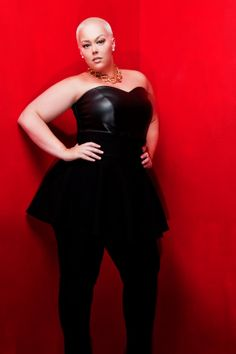 JIBRI Plus Size High Waist Peplum Pencil Pants by jibrionline, $150.00...these pants are EVERYTHING!!!!!