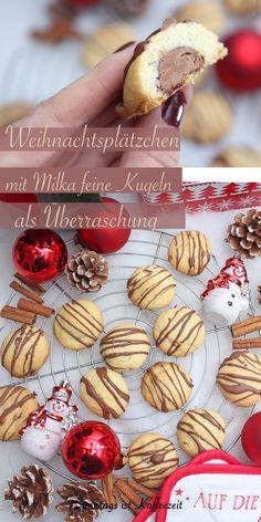 Schon mal Plätzchen mit Milka feine Kugeln als Füllung zur Weihnachtszeit gebacken? Wie wäre es mit Plätzchen mit Milka Kugeln Überraschung im Inneren zur Weihnachtszeit. Neulich habe ich diese super einfachen und schnell gemachten Plätzchen mit Milka Kugeln gemacht. #weihnachten #plätzchen #backen #einfach #lecker #schnell #milka #weihnachtsplätzchen #deutsch #rezepte #plätzchenbacken Sweet Bakery, Easy Peasy, Good Food, Favorite Recipes, Vegetables, Desserts, Super, Baking Cookies, Pies