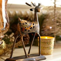 Reindeer stocking holder from the Enchanted Elegance Christmas Collection