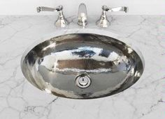 Cantrio Koncepts Hand Hammered Undermount Sink MS-010 :: Bath Sink from Home & Stone