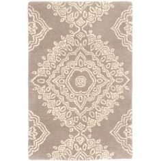 Found it at Wayfair - Medallion Wool Tufted Lace Area Rug
