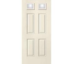 Therma-Tru Smooth Star Door - 2 Lite 4 Panel