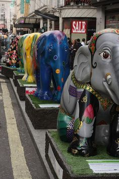 Elephant Parade invades Leicester Square by asw909, via Flickr