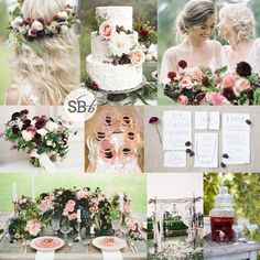 Blackberry Boho Wedding Inspiration | SouthBound Bride  Full image credits: http://www.southboundbride.com/inspiration-board-blackberry-boho/