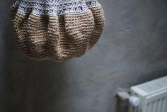 Large Beige Crochet hobo tote ecofriendly bag beige by Muza, $88.00