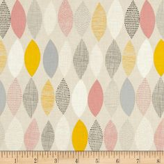 Shape of Spring Organic Spring Sampler Petal Pink from @fabricdotcom  Designed by Eloise Renouf for Cloud 9, this GOTS Certified organic cotton fabric is perfect for quilting, apparel and home decor accents.  Colors include beige, white, off white, grey, black, yellow, pink and light stone blue.