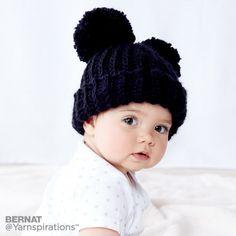 Adorable Pompom Hat Free Crochet Pattern