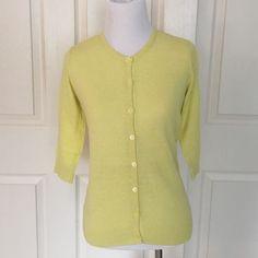 Magaschoni cotton cashmere 3/4 sleeve cardigan Cotton cashmere crewneck cardigan with three-quarter sleeves. Magaschoni Sweaters Cardigans