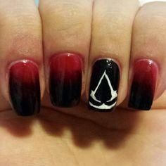 Assassin's Creed Nails #nails #gamergirl #assassinscreed