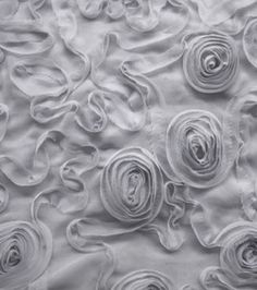 David Tutera Fabric- Chiffon Ribbon Grey & special occasion fabric at Joann.com