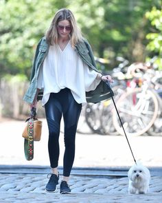 OLIVIA PALERMO Out with Her Dog in Brooklyn 06/10/2017