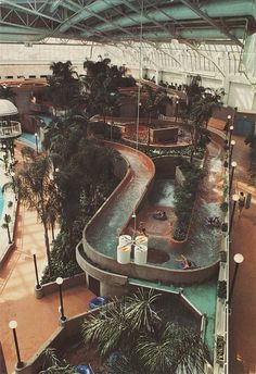 West Edmonton Mall , Edmonton,Canada. A must see! This is only a tiny part of this huge mall.