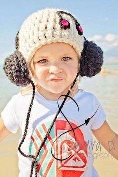 Gorro para niños con cascos crochet o ganchillo
