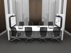 Interconnect tables are technology rich, stand alone environments specifically designed to support small to large group video collaboration when and where you need to share ideas, all at the touch of a button. Sharing can be easily facilitated for small groups to the whole project team.