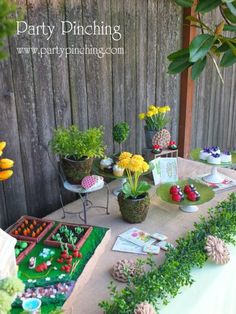 garden party ideas, garden party desserts