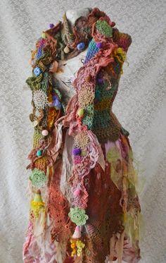 Bohemian winter set scarf and fingerless by irinacarmen on Etsy