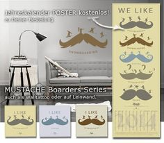 Mustage Boarder Series, poster #design #poster #wallsticker