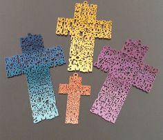 Cruz de madera con oración