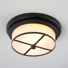 Modern Tailored Flush Mount Ceiling Light   2 finishes, perfect for the foyer