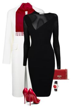 Black White Red by terry-tlc on Polyvore featuring Versace, Alexander Wang, Christian Louboutin, Valentino, Bertha, Paul Smith, fashionset, polyvoreeditorial and polyvorefashion
