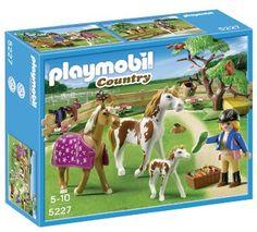 Playmobil Granja - Cuidadora con caballos (5227)