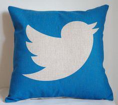 Twitter pillow cover