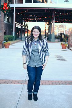 Winter Fashion | Stripes, Chambray, & a Dash of Sparkle