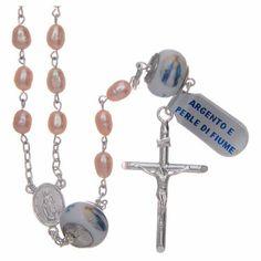b6254b70c5ac96 Rosario classico girocollo silver Santa Rita argento 925 1   Rosari Argento    Ceiling Lights, Chandelier e Decor