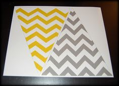 Free Printable Yellow and Grey Chevron!