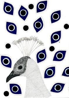 #les_paons #birds #ilustration #miu_mirambell https://www.instagram.com/miu_mirambell/ http://www.sebastianmelmothstore.com