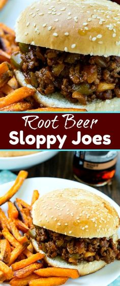 Root Beer Sloppy Joes make an easy, quick family meal that you can have on the table in no time. The root beer gives the sloppy joe mixture a slightly sweet, caramel flavor. Beer Recipes, Crockpot Recipes, Dinner Recipes, Cooking Recipes, Paninis, Quick Family Meals, Easy Meals, Quesadillas, Burritos