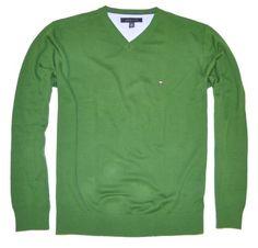 Tommy Hilfiger Men Logo V-neck Sweater Pullover $39.99