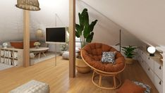 PODDASZE BOHO Interior Rendering, Interior Design, Floor Chair, Inspire, Flooring, Flat, Boho, House, Inspiration