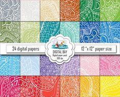 FANTASY  Digital paper pack  Instant download  by DigitalBay