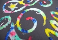 An easy and exciting craft for kids with step by step instructions to make salt paintings