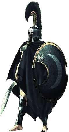 A hoplite from the city-state Thespiae in central Greece.