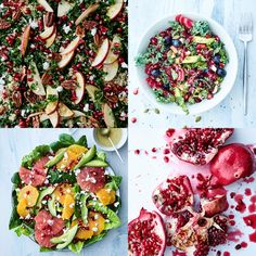 All photos are by Joachim WichmannEvening lovelies! It is time for me to share some more recipes from my cookbook Regnbuemad and this time it is all about colorful salads with a special fokus on pomegranate that are in season right now♥I have been so excited to give you guys more sneak