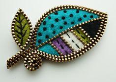 Retro leaf brooch   Flickr - Photo Sharing!