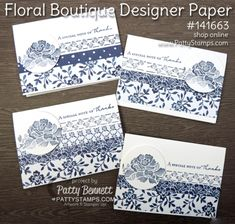 Floral Boutique Stampin' Up! Note Cards                                                                                                                                                      More